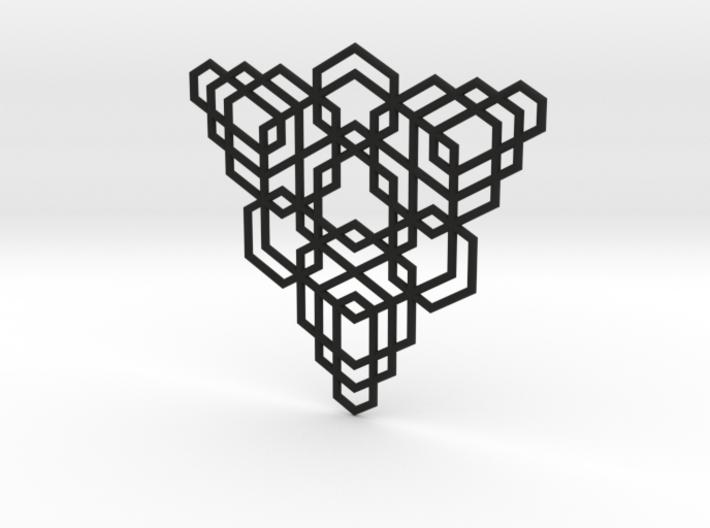 Hex Fractal Pendant 3d printed