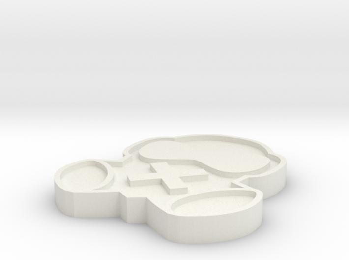 Mute Keychain 3d printed