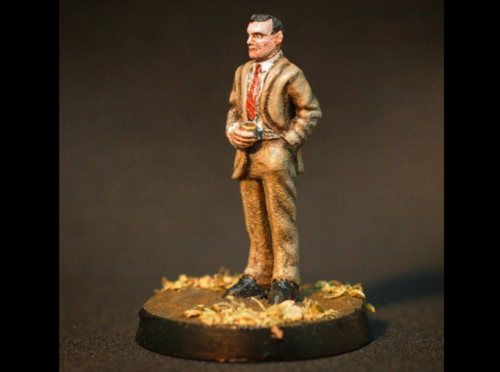 Ron Rolson: 28mm 1960s Ad Man 3d printed Painted Example