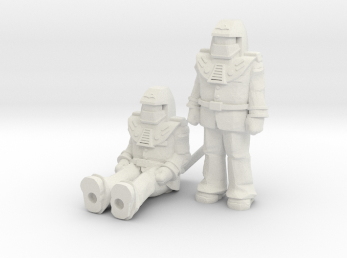 Miles Mayhem 2-pack, 35mm Minis 3d printed