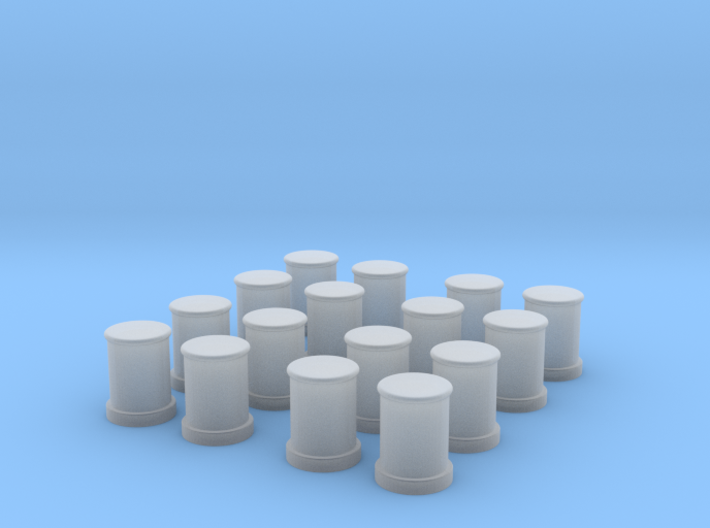 1/96 DKM Bollards Set x16 3d printed