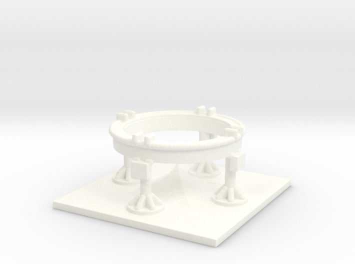 1/200 Scale Redstone/Jupiter C Launch Pad 3d printed