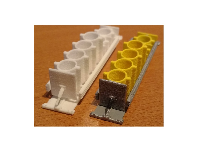 Stationary Crash Attenuator Tall Parted 1-87 HO Sc 3d printed