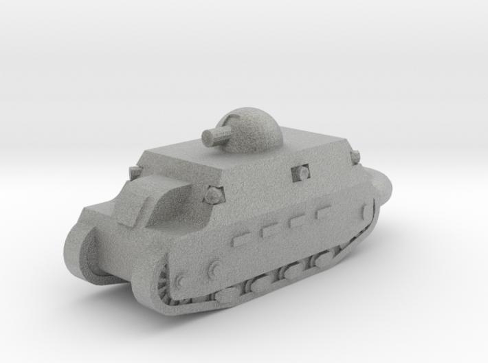 Fiat 2000 Heavy Tank KEYCHAIN 3d printed