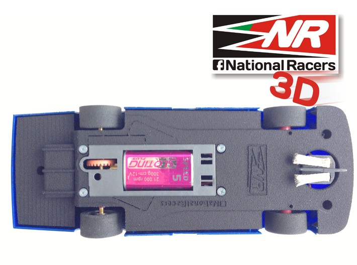 3D Chassis - SCX Chevrolet Impala SS 2008 (Combo) 3d printed