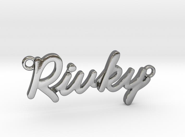 "Name Pendant - ""Rivky"" 3d printed"