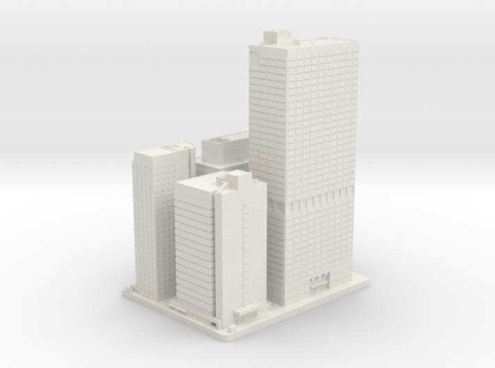 Four, Five, Seven and Eight Penn Center (1:2000) 3d printed