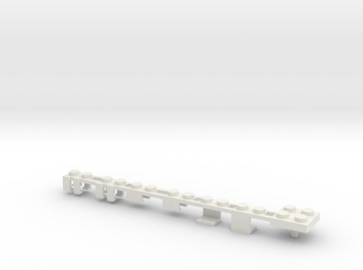 Building Block Interface for Action Figures -Plain 3d printed