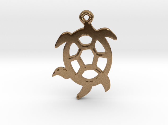 Squirmy Turtle™ Charm 3d printed