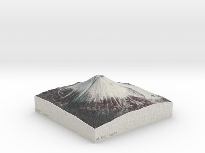 Mt. Fuji, Japan, 1:75000 Explorer 3d printed