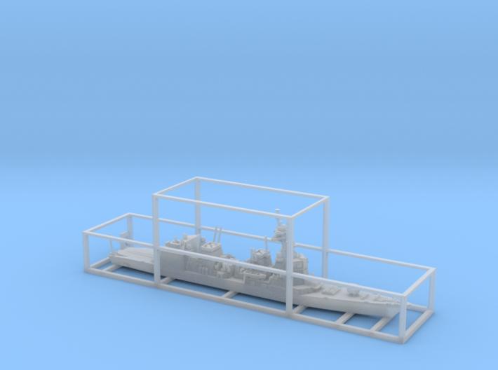 1/1800 JS Akizuki-class destroyer 3d printed