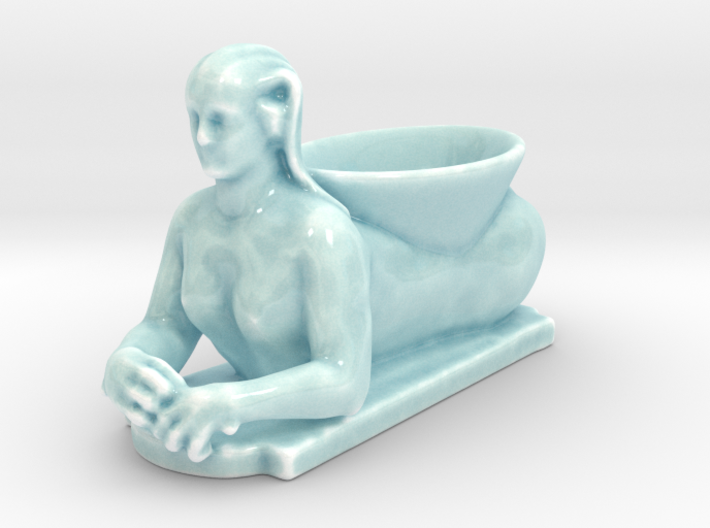 Egyptian Sphinx Planter 3d printed