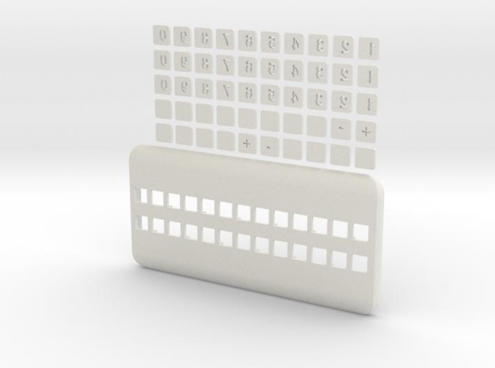 Set widget phone number 3d printed