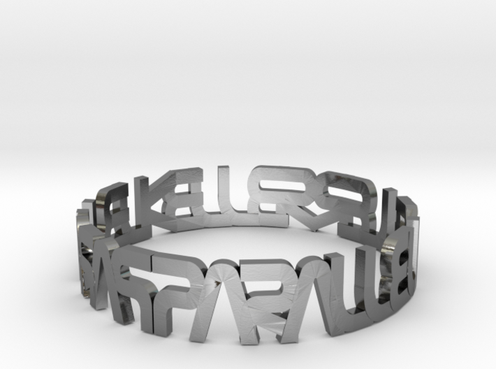 """Parallelkeller Ring """"Round'n'Round"""" Rimless 3d printed"""