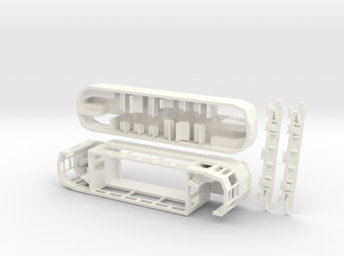 4mm Brighton 'F' Class tram with seats on upper de 3d printed