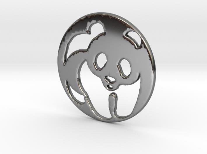 The Panda Pendant 3d printed