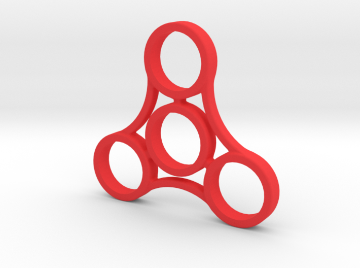 Large Triple Sided Fidget Spinner 3d printed
