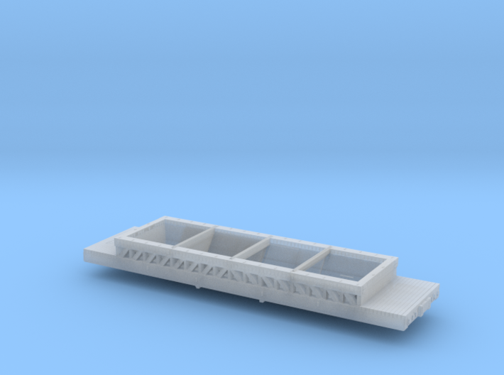 40 Foot Rodgers Ballast Car HO scale 3d printed