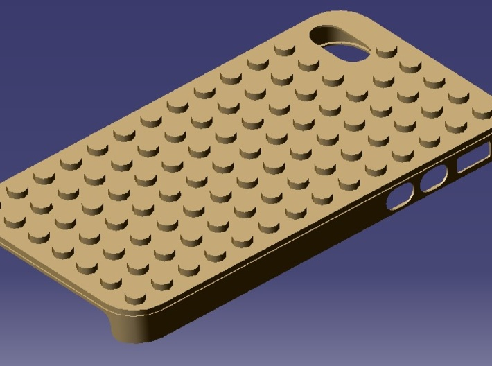 iPhone 4S Lego case 3d printed