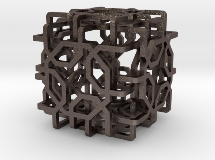 Two-layer Islamic geometric charm 3d printed