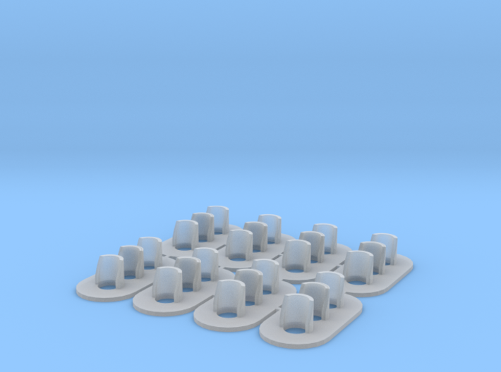 Non-Proto HO Scale (1:87) GRS Type D 3 Light Signa 3d printed