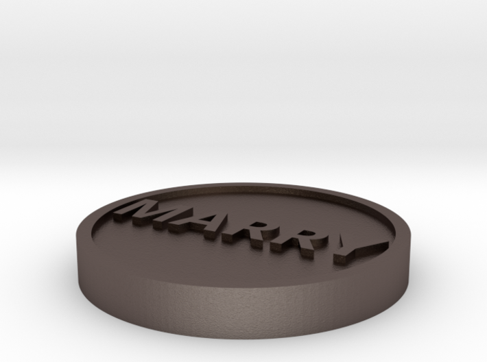 Coin: Marry or Dump 3d printed