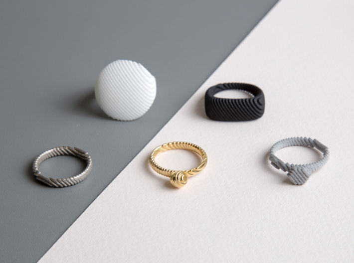 archetype - pearl ring 3d printed entire archetype collection