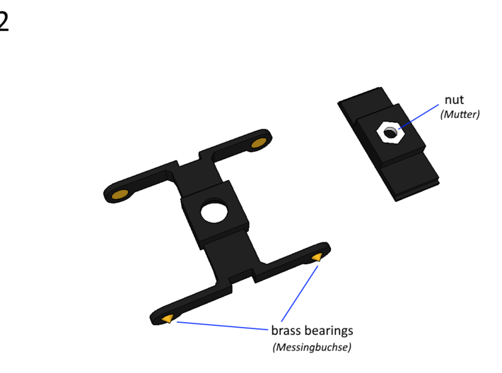 H0 Drehgestell 25,3mm 3d printed Instructions Step 2