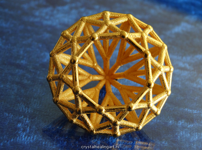 Diamond - Brilliant crystal geometry 3d printed