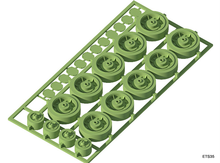 ETS35007 Renault R35 Set - 1:35 3d printed Road wheels, return rollers and cover plates for the idler