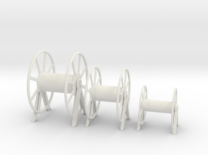 1/32 Germany Kriegsmarine Hauser Rope Barrels SET 3d printed