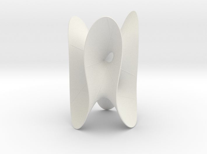 Cubic KM 23 cylinder cut with lines 3d printed