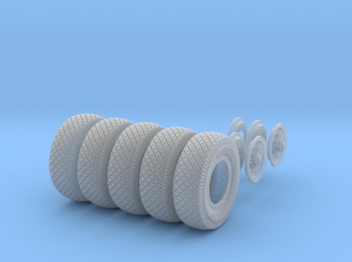 1-25 Chevy LRDG Tire And Rims FUD Set3 3d printed