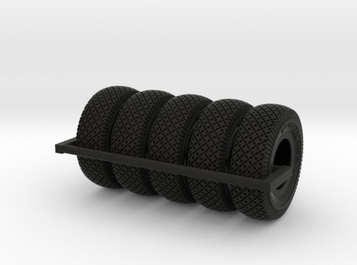 1-24 Chevy LRDG Tire Set1 3d printed