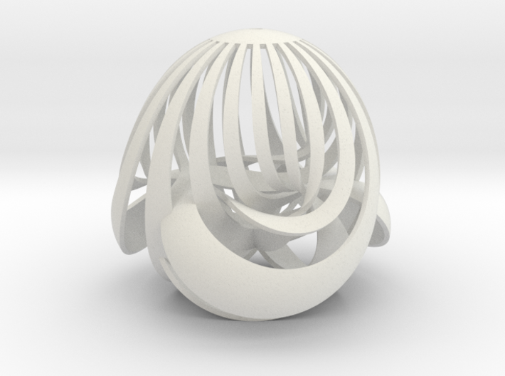 Boy surface (striped version) 3d printed