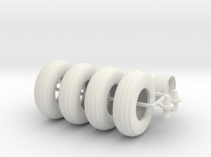 1/16 9.5L-15 Implement tires, wheel, and hubs 3d printed