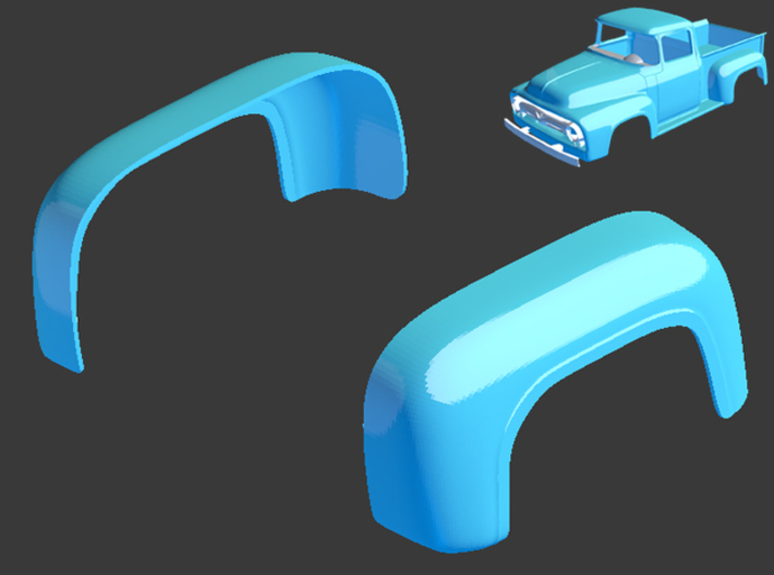 1956 Ford Pickup Rear Arches 1/8 3d printed