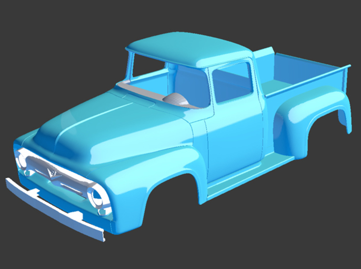 1956 Ford Pickup Grill Details 1/8 3d printed
