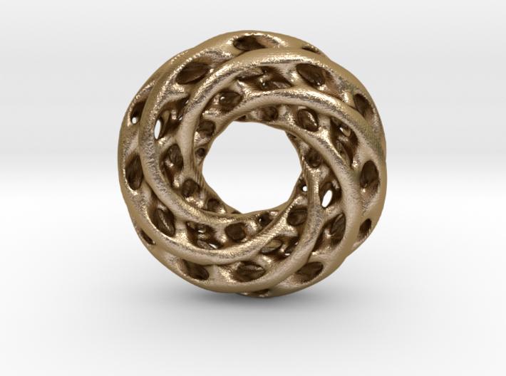 0625 IsoSurface F(x,y,z)=0 Diamond Tori [6] d=8cm 3d printed