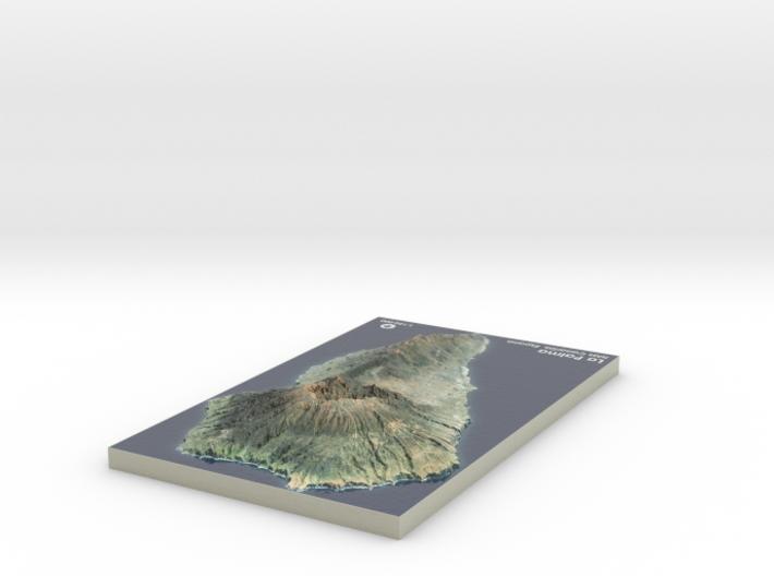 La Palma Map, Canary Islands - Large 3d printed