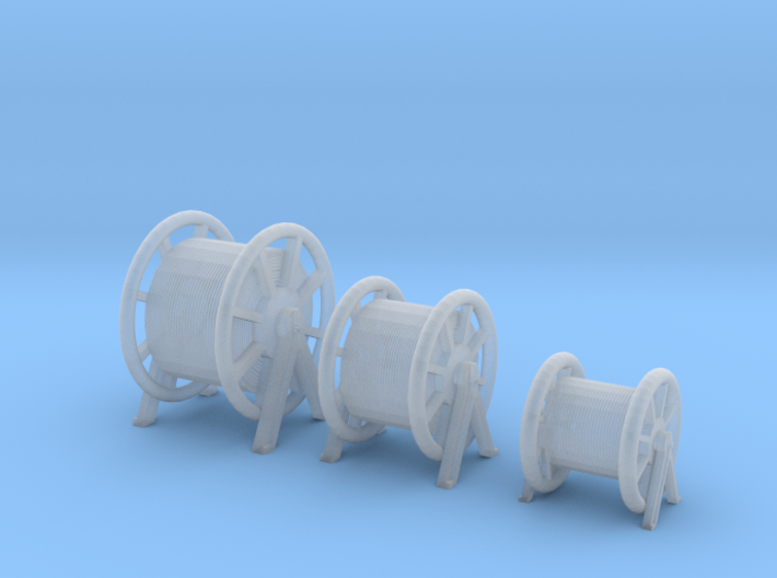 1/144 Germany Kriegsmarine Rope Barrels SET x3 3d printed
