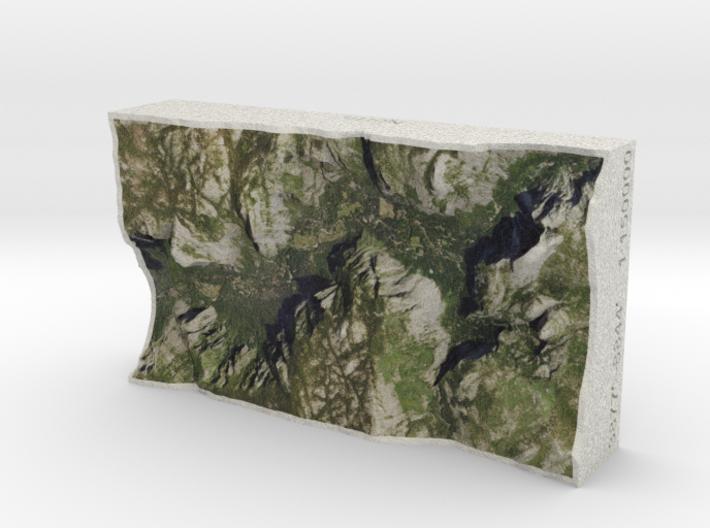 Yosemite Valley, CA, USA, 1:150000 Explorer 3d printed