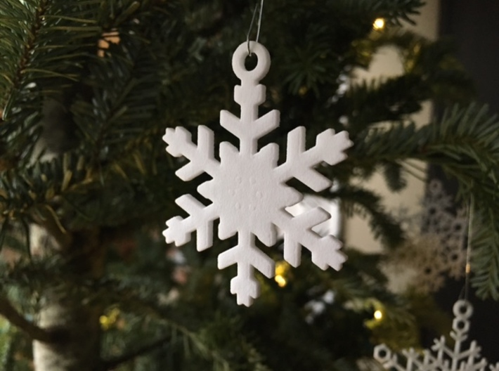 Snowflake Ornaments - One Dozen Small 3d printed Example of one of the ornaments