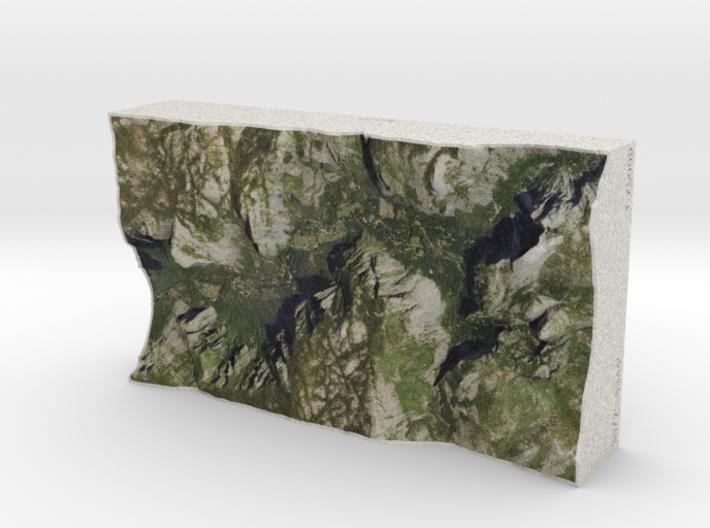 Yosemite Valley, CA, USA, 1:75000 Explorer 3d printed