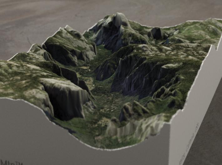 Yosemite Valley, CA, USA, 1:50000 Explorer 3d printed