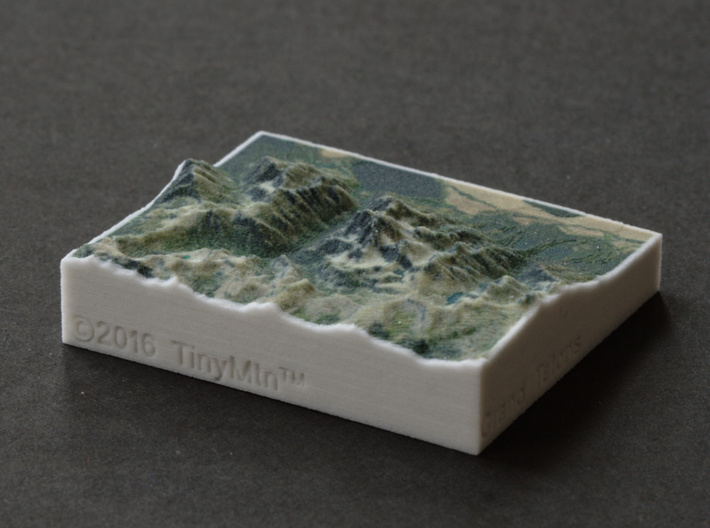 Grand Tetons, Wyoming, USA, 1:250000 Explorer 3d printed