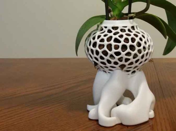Smaller Orchid Vase 3d printed