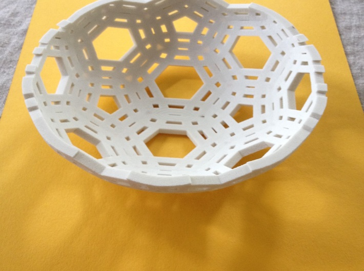 "Lace Bowl (6.25"" diameter) 3d printed"