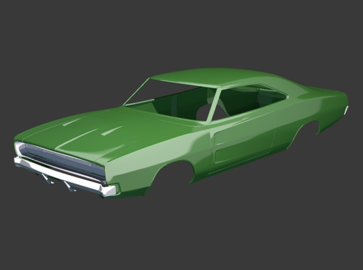 Dodge Charger 1968 Grill 1/8 3d printed