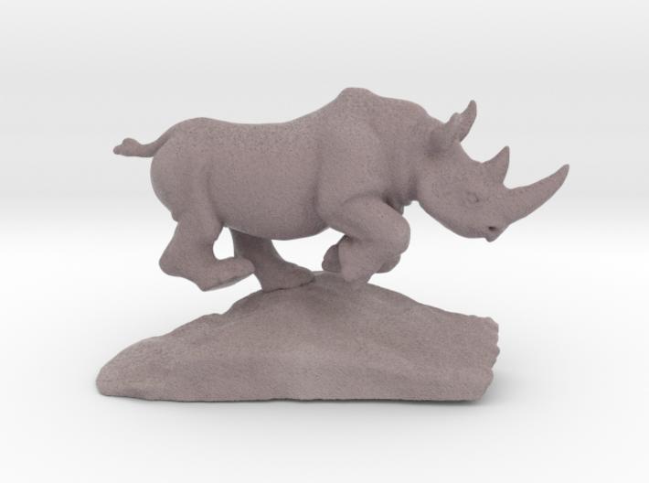 Rhino Gray 7'' Long 3d printed